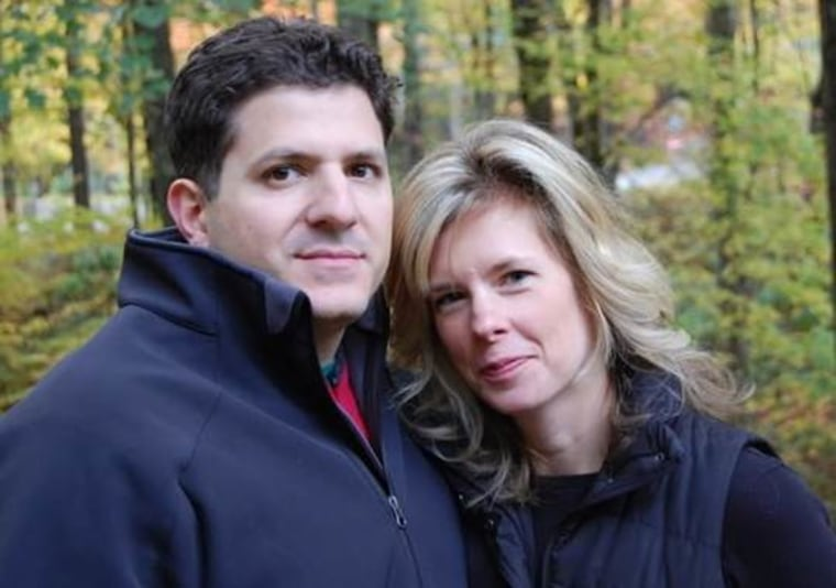 """Says Carrie Cariello, pictured here with her husband Joe: """"I worry one day my marriage will buckle beneath this tremendous weight, that we are just one meltdown away from complete chaos, because parenting this boy together is so hard."""""""