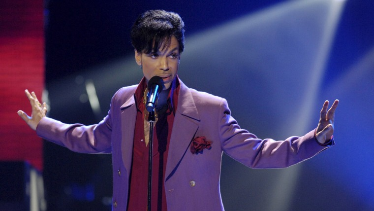 """Prince performing during """"American Idol"""" finale at Kodak Theater in Hollywood."""