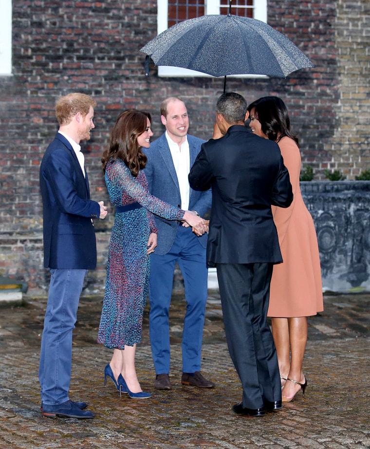 The Obamas Dine At Kensington Palace