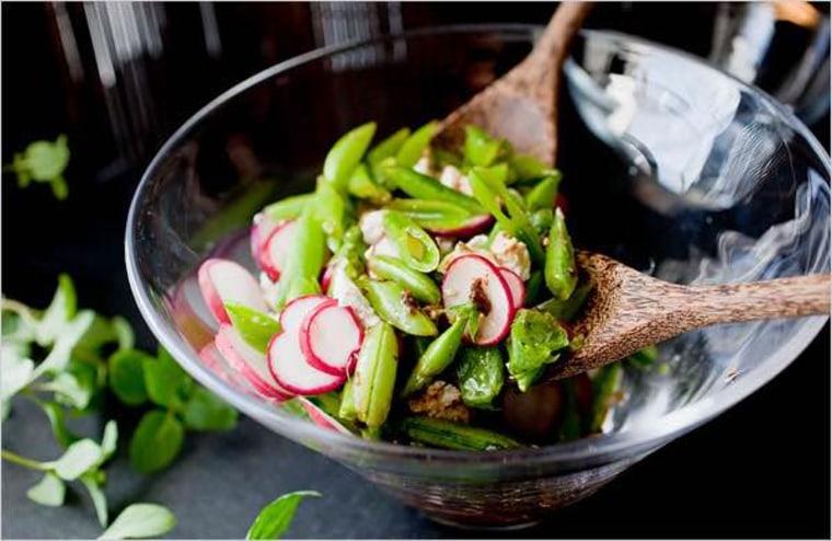 Andrew Carmellini's snap pea salad.