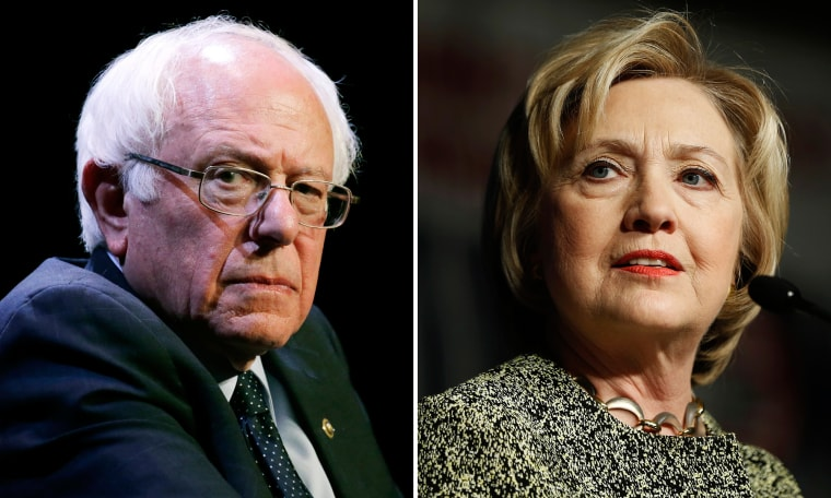 Image: Bernie Sanders and Hillary Clinton