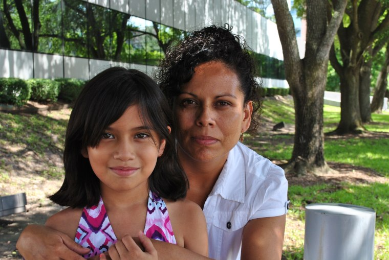 One of Maria Lopez's biggest fears is being deported and separated from her 12-year-old daughter, who is a U.S. citizen. Lopez, from Houston, TX, would be eligible for deportation relief and a work permit under a program for undocumented parents of U.S. citizens and lawful permanent residents that Obama announced in November 2014. The Supreme Court will hear oral arguments Monday to decide the fate of the program, which was blocked by a lower court.
