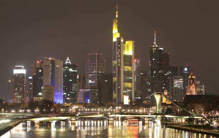 Image: The skyline of Frankfurt, Germany