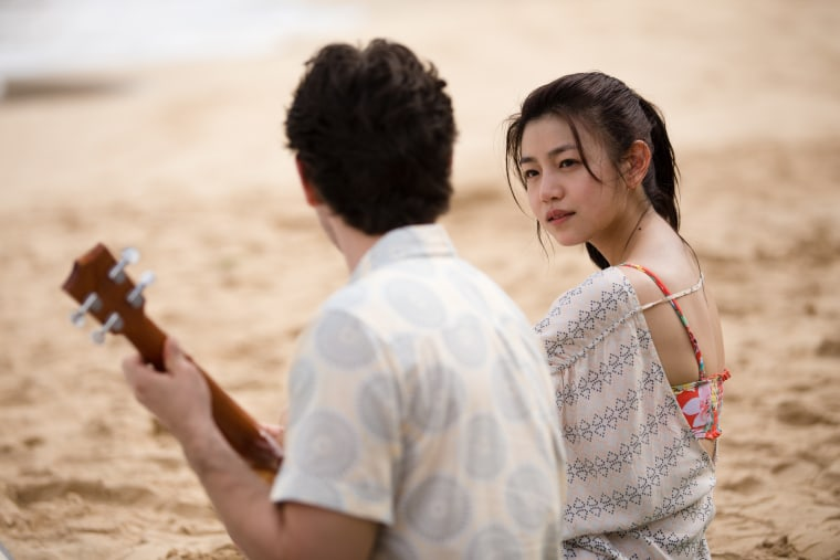 """A still from romantic thriller """"Pali Road,"""" which is set in Hawaii and features Taiwanese actress Michelle Chen."""