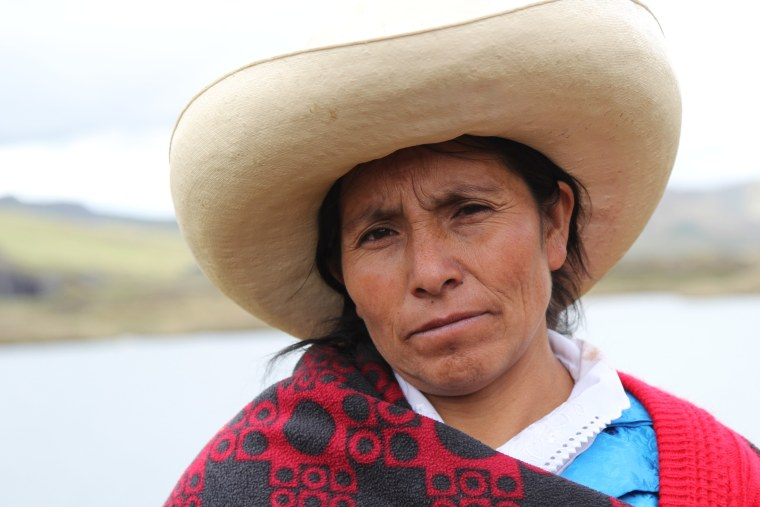 A subsistence farmer in Peru's northern highlands, Máxima Acuña stood up for her right to peacefully live off her own property, a plot of land sought by Newmont and Buenaventura Mining to develop the Conga gold and copper mine.