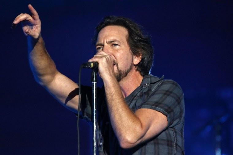 IMAGE: Eddie Vedder and Pearl Jam