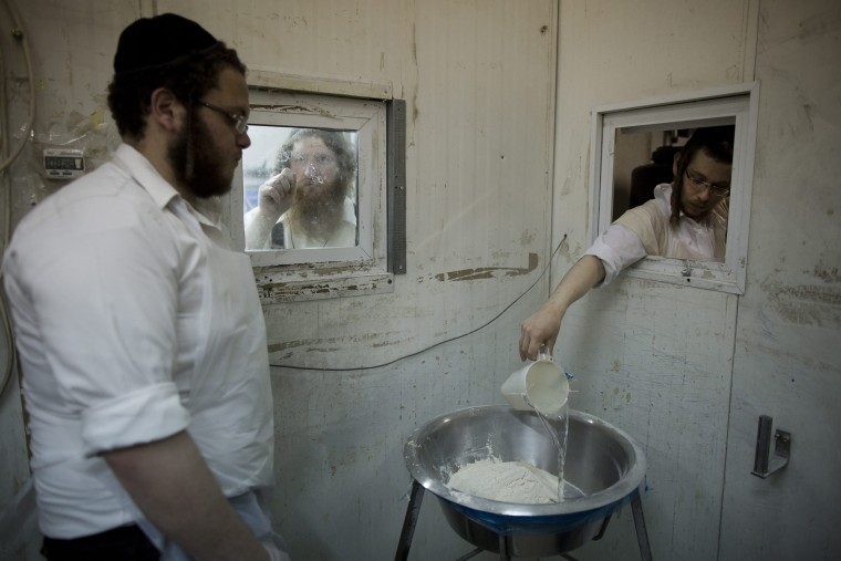 Image: Ultra-Orthodox Jews make Matzah in Ashdod ahead of the Jewish holiday of Passover