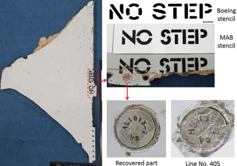 Image: Likely MH370 stabilizer panel
