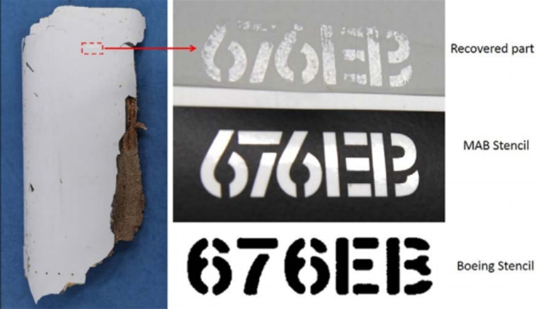 Image: Likely MH370 piece