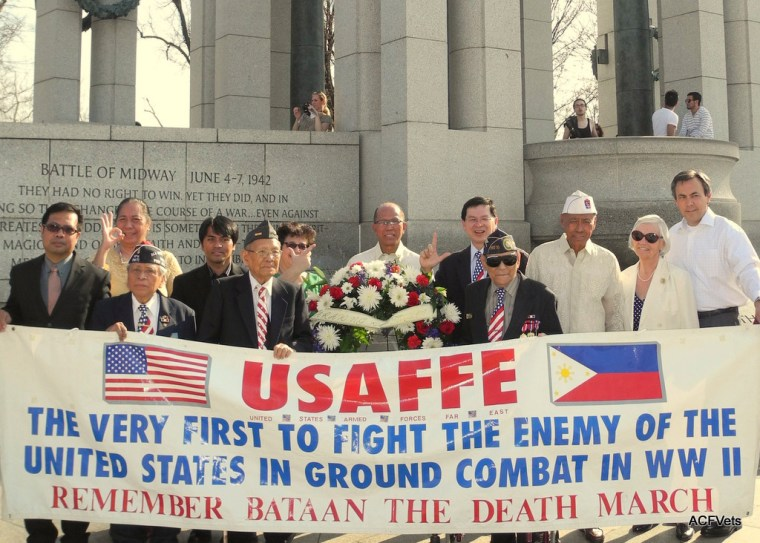 Jesse Baltazar (third from right) at the 2013 Bataan Day Wreath Laying on April 9, 2013.