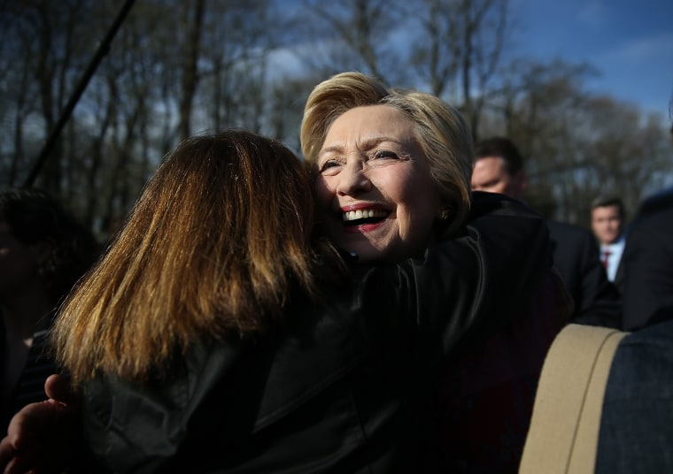 Image: Hillary Clinton Campaigns In New York On Day Of NY Primary