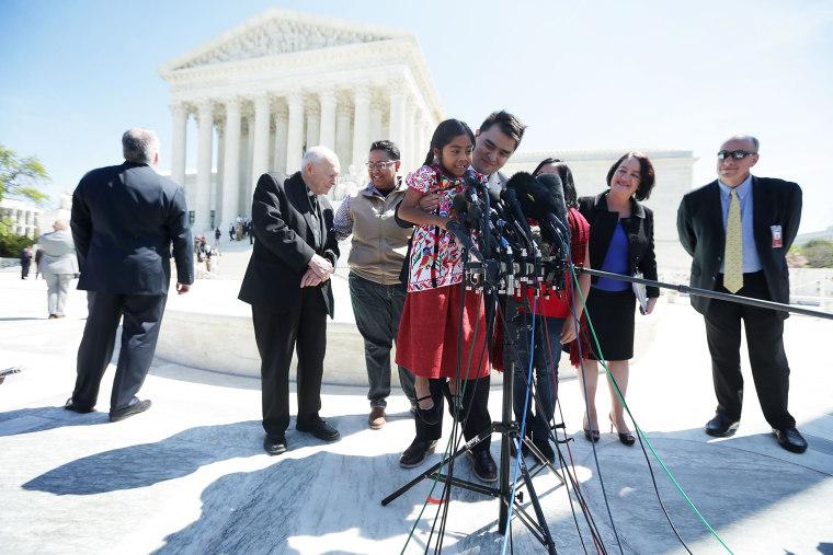 Image: U.S. Supreme Court Hears Challenge To Obama Immigration Programs