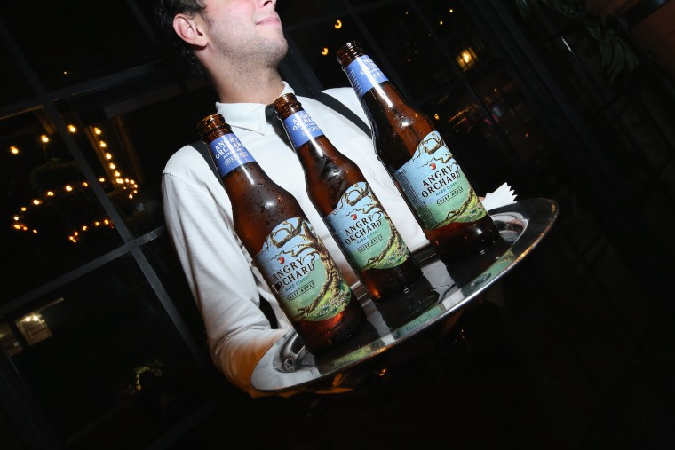Angry Orchard on display at Rachael Ray's Feedback: Chefs and Cocktails, during Food Network & Cooking Channel New York City Wine & Food Festival at The Bowery Hotel  in New York City on October 16, 2015.