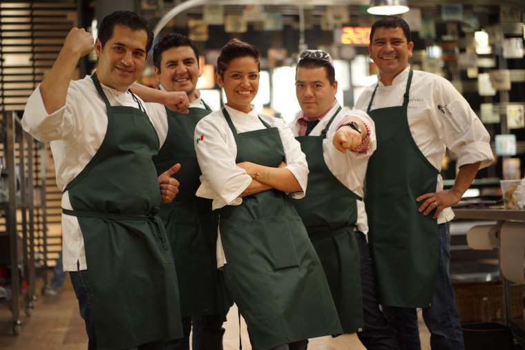 """Katsuji Tanabe (second from right) on """"Top Chef Mexico."""""""