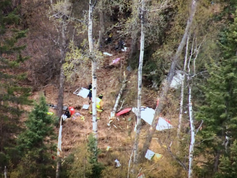 Image: A Cessna 172 plane crashed into the woods northwest of Anchorage