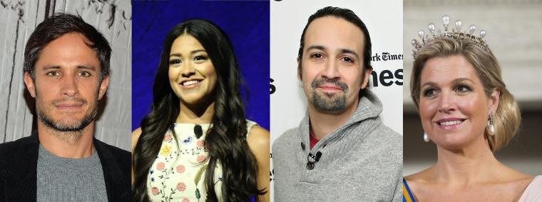 [Left to Right] Gael Garc?a Bernal, Gina Rodriguez, Lin-Manuel Miranda, and Queen M?xima.