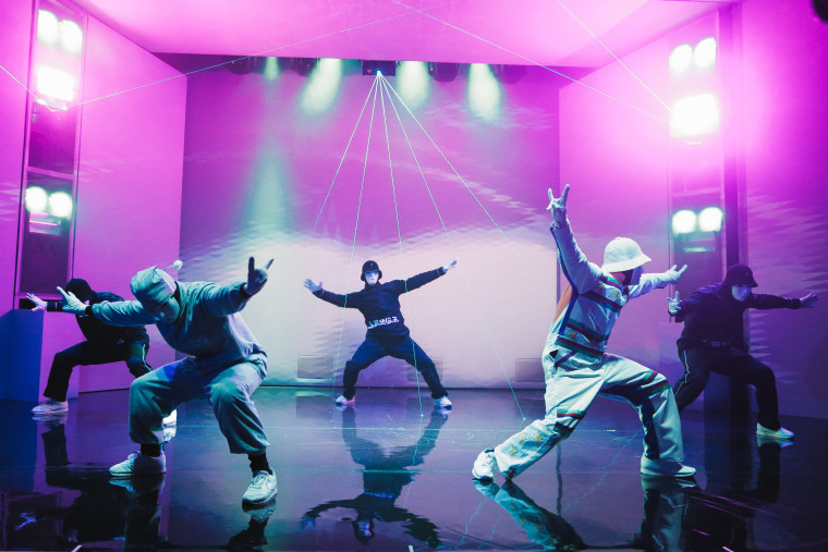 "A scene from the Jabbawockeez's new show at MGM, ""JREAMZ."""