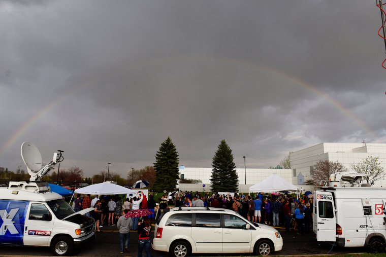 Image: A rainbow emerges over Paisley Park