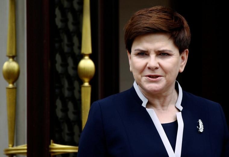 Image: Beata Szydlo on April 18, 2016
