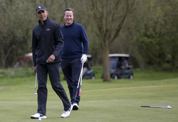 Image: Barack Obama, David Cameron