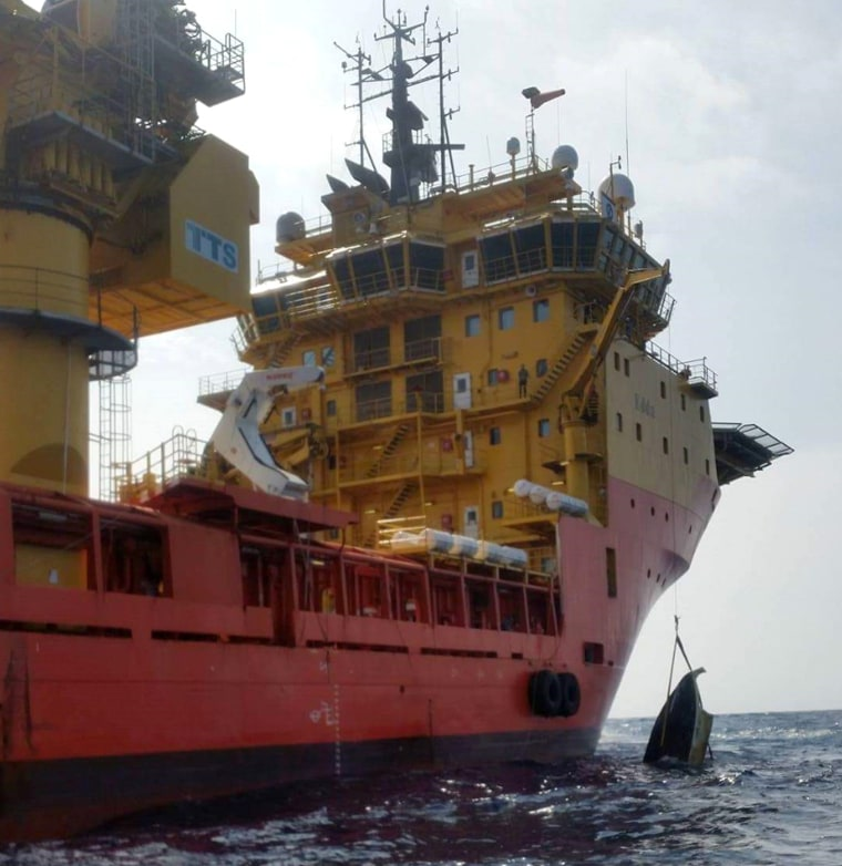 Multi Purpose Supply Vessel Edda Fjord, while enroute to Norway, discovered a capsized small craft approximately 100 miles off the coast of Bermuda. The boat was subsequently confirmed to be the boat that belonged to Austin Stephanos.
