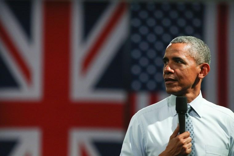 Image: BRITAIN-US-EU-POLITICS-OBAMA