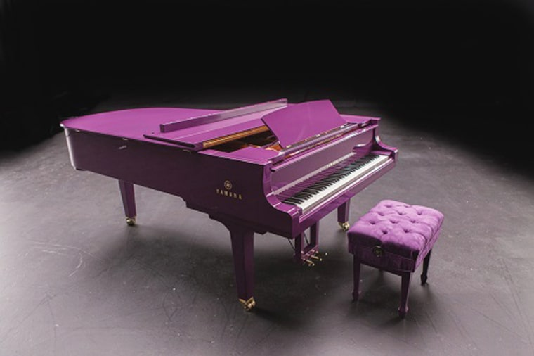 Image: Yahama purple piano for Prince