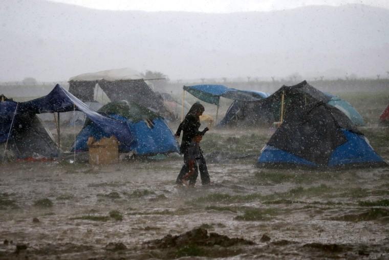 Image: Idomeni, Greece migrants