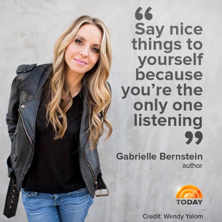 Gabrielle Bernstein is a certified Kundalini yoga and meditation teacher.