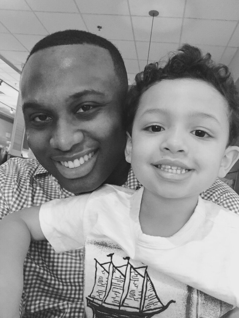 Evrod Cassimy and his son.