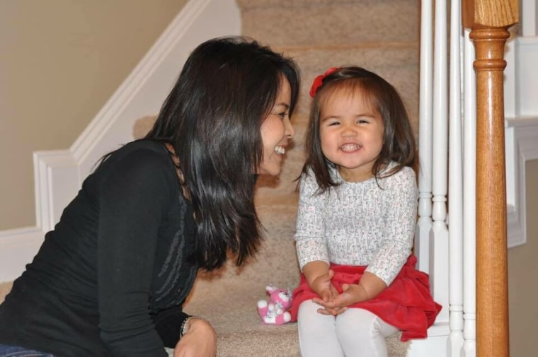 Renee Chou and her daughter.