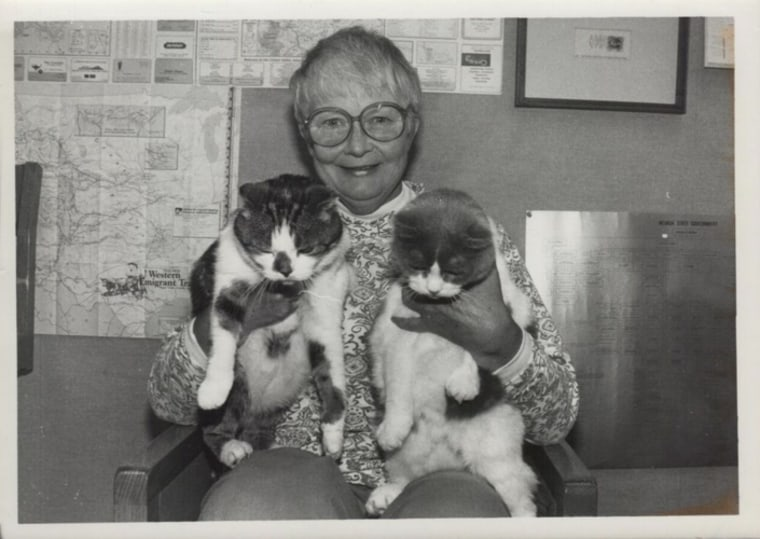 Baker and Taylor library cats with Jan Louch