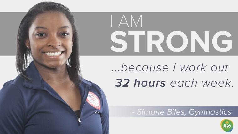 """Simone Biles on why she's """"strong."""""""