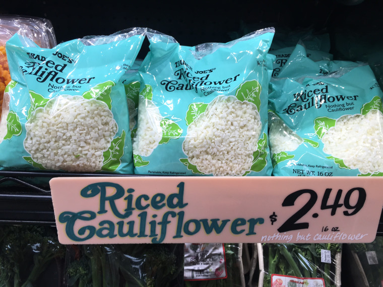 Fresh cauliflower rice at Trader Joe's