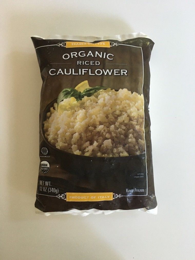 Trader Joe's frozen cauliflower rice