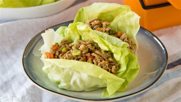 These Asian lettuce wraps can be made ahead