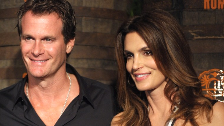 Rande Gerber and Cindy Crawford