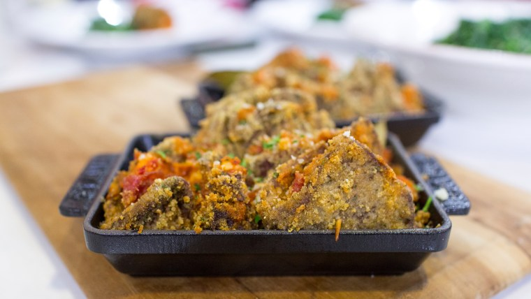 TODAY Food Club member Nicole Gaffney cooks up Italian beef roll-ups and parmesan spinach