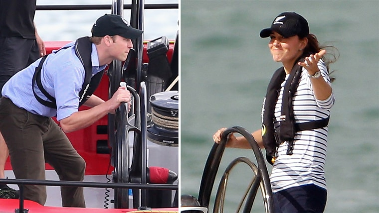 Prince William and Duchess Kate racing yachts