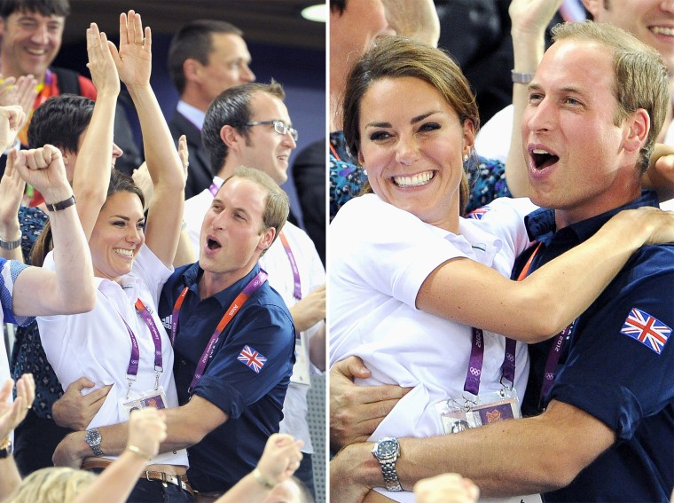Duchess Kate and Prince William at the 2012 Olympics