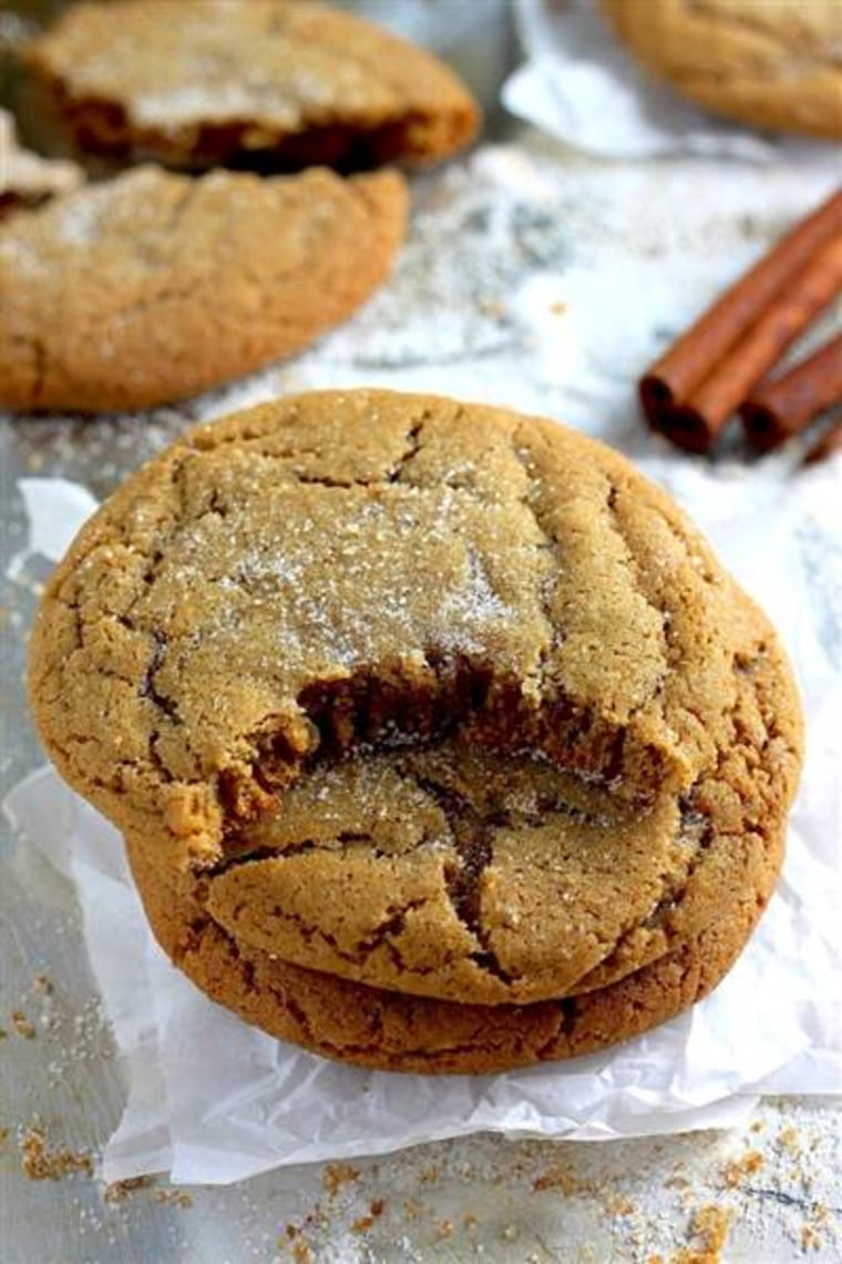 Christmas cookies: Brown butter gingersnaps