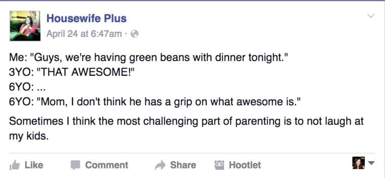 Green beans tweet