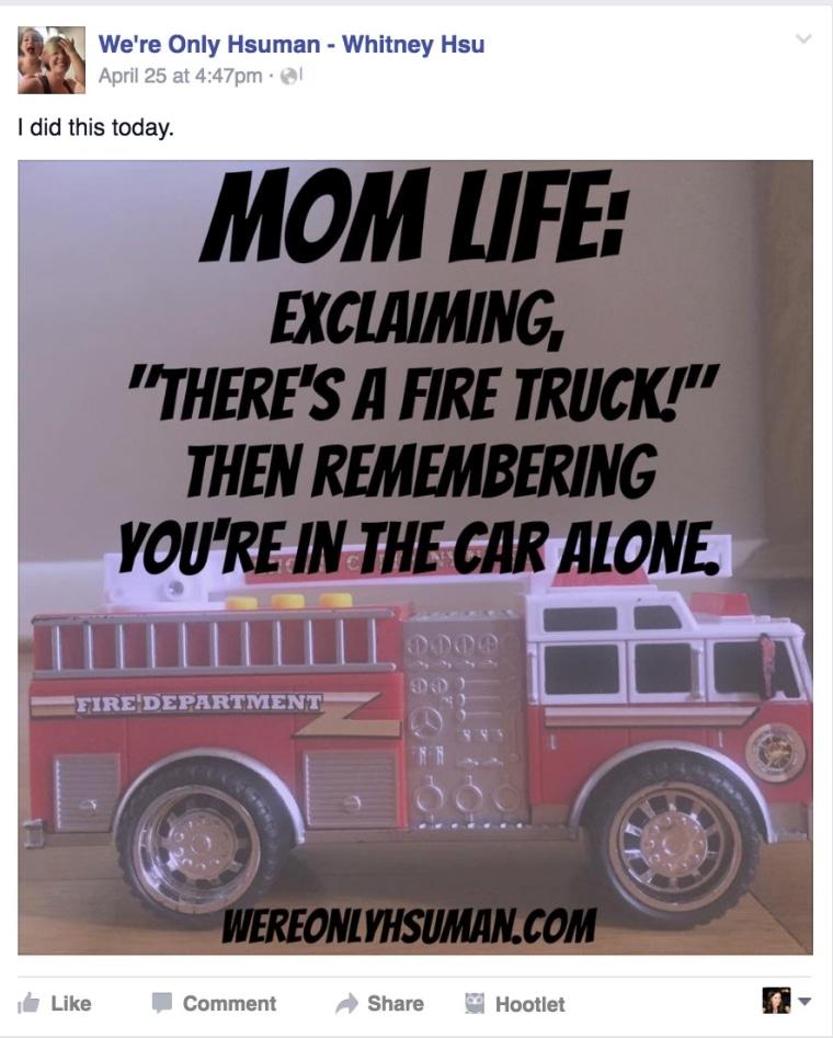 Fire truck post