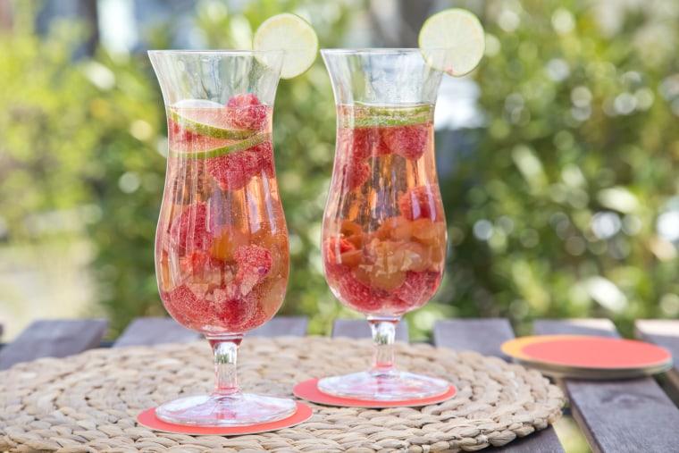 Sparkling raspberry lime sangria