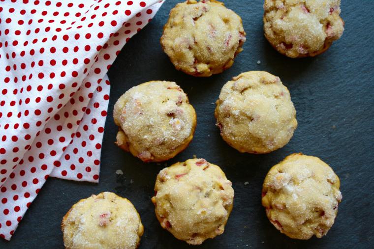 Spring dessert/breakfast recipe: Sugar-Dipped Rhubarb Lemon Muffins