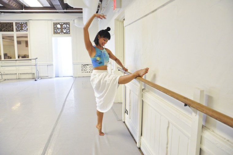 """Karla Garcia, pictured here at Studio III, is the first Filipino-American member of the cast of """"Hamilton,"""" the Pulitzer-winning Broadway musical."""