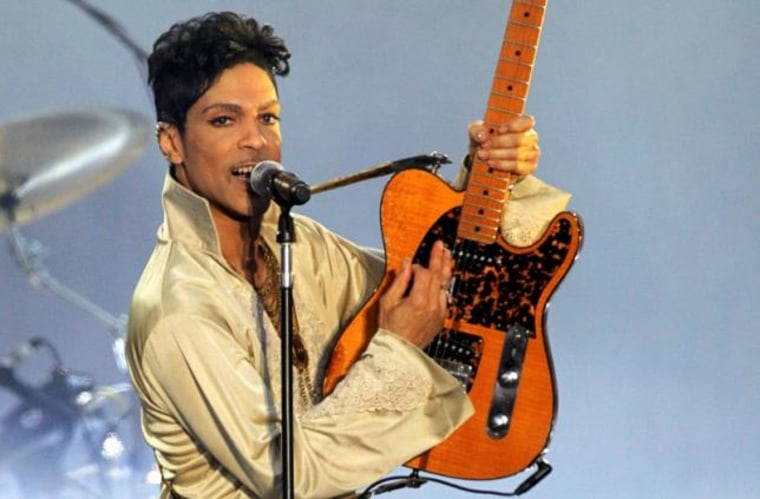 U.S. musician Prince performs for the first time in Britain since 2007 at the Hop Farm Festival near Paddock Wood