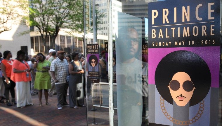 Prince performs in Baltimore