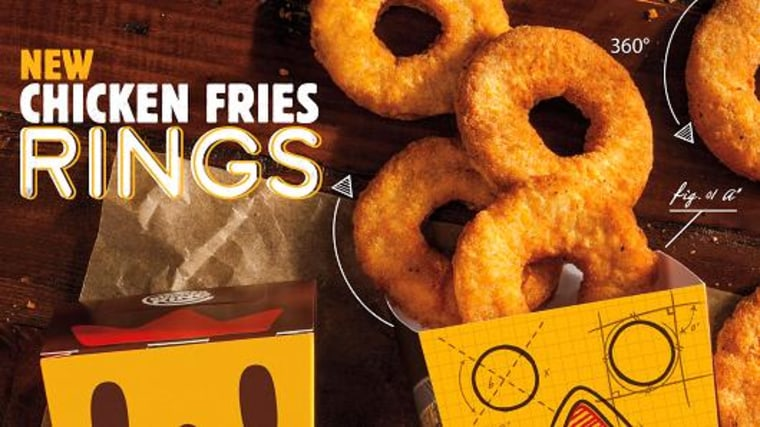 Burger King's new Chicken Fries Rings