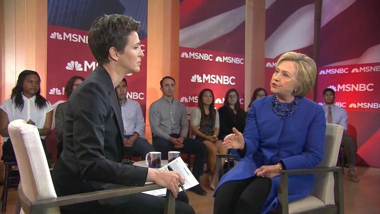 Image: Hillary Clinton Rachel Maddow